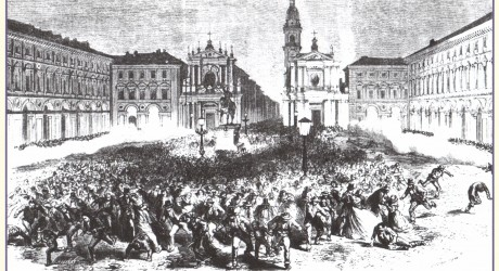 Strage di Piazza San Carlo Incisione di Godefroy Durand