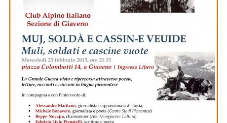 Locandina Cai Sezione di Giaveno, 25-02-2015